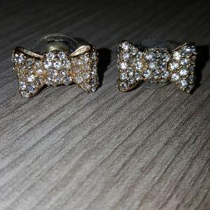 Kate Spade Cubic Zirconia Bow Stud Earrings